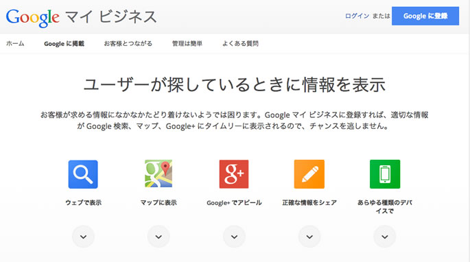 GoogleMyBusinessで出来る事