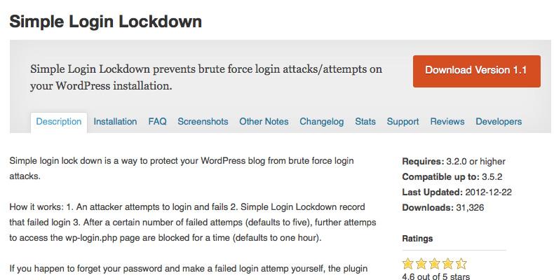 WordPress管理画面の不正アクセスを自動でロック。WordPressプラグイン「Simple Login Lockdown」