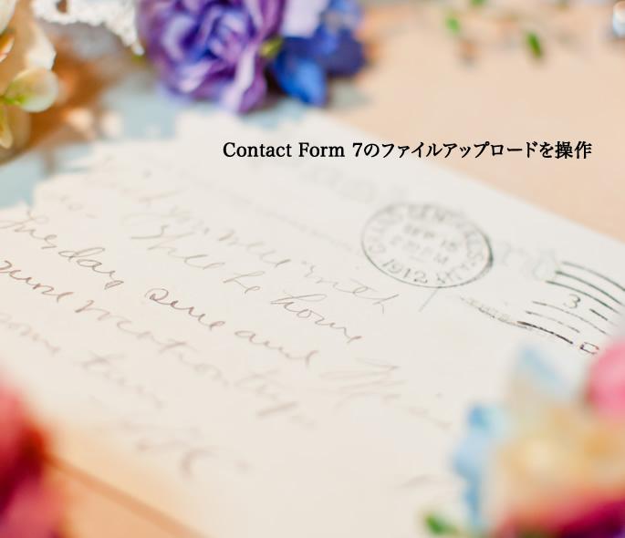 Contact Form 7のファイルアップロードを操作