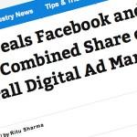 検索エンジンモバイル広告上昇?2016年にFacebookとGoogleが15%のデジタル広告シェアとなる?eMarketerの報告。