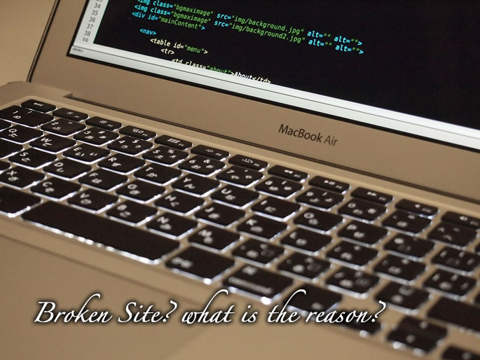 サイトが見えない!壊れている!故障している!その原因を調べたい。