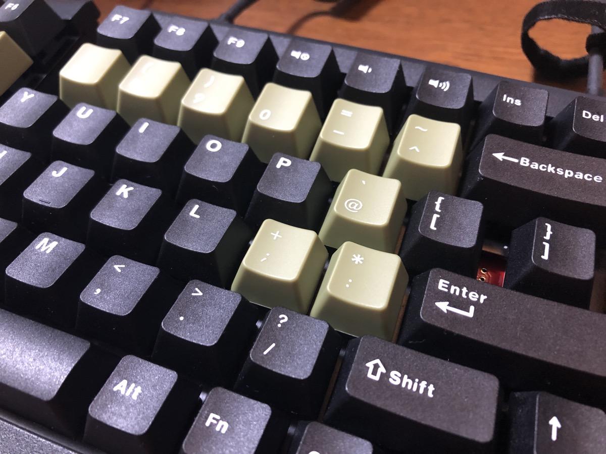 FILCOのキートップに変更右側